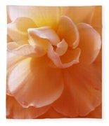 Just Peachy Begonia Flower Fleece Blanket