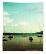 Just Sail Boats Fleece Blanket