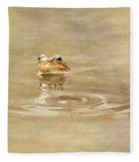 Just She Was Still There Fleece Blanket