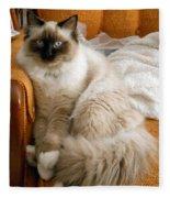 Just Sitting Fleece Blanket