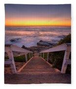 Just Steps To The Sea Fleece Blanket