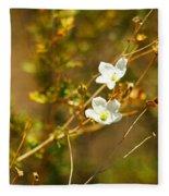 Just Two Little White Flowers Fleece Blanket
