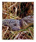 Juvenile American Alligator Fleece Blanket