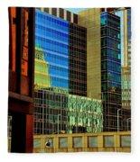 Juxtaposition Of Pittsburgh Buildings Fleece Blanket