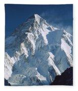 K2 At Dawn Pakistan Fleece Blanket