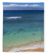 Kaanapali Ocean Aerial Fleece Blanket
