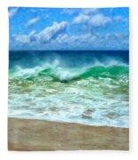 Kaanapali Shorebreak Maui Fleece Blanket