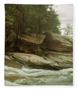 Kaaterskill Falls In Autumn, Catskill Fleece Blanket