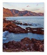 Ka'ena Point Oahu Sunset Fleece Blanket