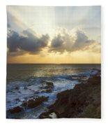 Kaena Point State Park Sunset 3 - Oahu Hawaii Fleece Blanket