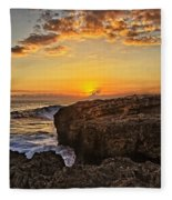 Kaena Point Sunset Fleece Blanket