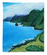 Kalaupapa Peninsula Fleece Blanket