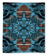 Kaleidoscope Flower 2 Fleece Blanket