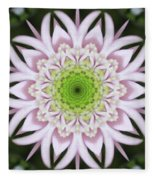 Kaleidoscope Pink Daisy Fleece Blanket