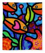 Kaleidoscope Reef Fleece Blanket