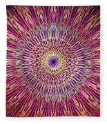 Kaleidoscope Retro  Fleece Blanket