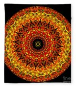 Kaleidoscope Stained Glass Window Series Fleece Blanket