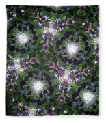 Kaleidoscope Violets 2 Fleece Blanket