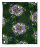 Kaleidoscope Violets Fleece Blanket