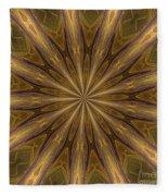 Kaleidoscope With Gold Fleece Blanket