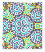 Kaleidoscopic Whimsy Fleece Blanket