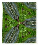 Kalido Plant Fronds Fleece Blanket