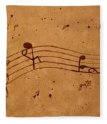 Kamasutra Abstract Music 2 Coffee Painting Fleece Blanket