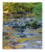 Kanaka Creek In The Fall Fleece Blanket