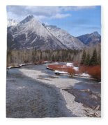 Kananaskis River Fleece Blanket