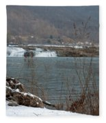 Kanawha Falls - Winter Fleece Blanket