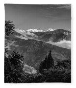 Kanchenjunga Monochrome Fleece Blanket