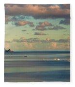 Kaneohe Bay Panorama Mural 3 Of 5 Fleece Blanket