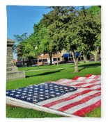 Kankakee Union Soldiers Memorial Fleece Blanket