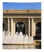 Kansas City Fountain At Union Station Fleece Blanket