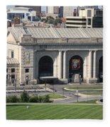 Kansas City - Union Station Fleece Blanket