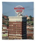 Kansas City - Western Auto Building 2 Fleece Blanket