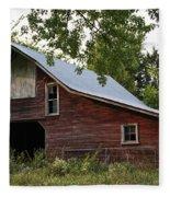 Kansas Hay Barn Fleece Blanket