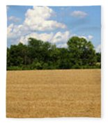 Kansas Wheat Field 3a Fleece Blanket