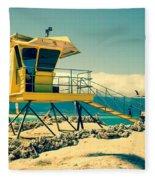 Kapukaulua Beach Lifeguard Station Paia Maui Hawaii  Fleece Blanket