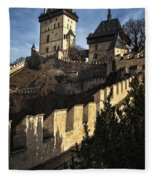 Karlstejn Castle Color Fleece Blanket