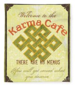 Karma Cafe Fleece Blanket
