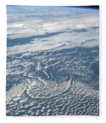 Karman Vortex Cloud Streets From Space Fleece Blanket
