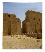 Karnak Temple 04 Fleece Blanket