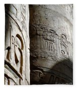 Karnak Temple 10 Fleece Blanket