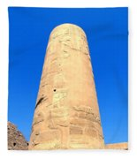 Karnak Temple 18 Fleece Blanket