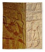 Karnak Temple Detail Fleece Blanket