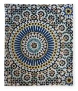 Kasbah Of Thamiel Glaoui Zellij Tilework Detail  Fleece Blanket