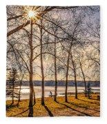 Katepwa Lake In Saskatchewan Fleece Blanket
