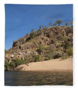 Katherine Gorge Landscapes Fleece Blanket
