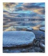 Kathleen Lake And Mount Worthington Fleece Blanket